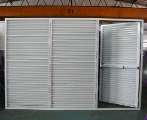 High Quality Powder Coated Aluminum Profile Fixed Shutter Casement Door K06041 pictures & photos