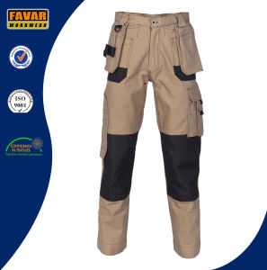Multi Functional Pockets Duratex Cotton Khaki Cargo Pants