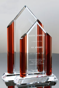 Madrid Ruby Crystal Tower Award Trophies pictures & photos