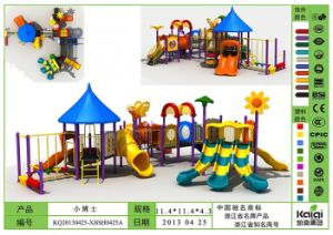 Kaiqi Medium Sized Cartoon Children′s Playground Equipment Set - Many Colours Available (KQ20130425-XBSH0425A) pictures & photos