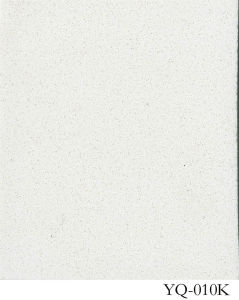Pure White Quartz Stone Kitchen Design (YQ-010K) pictures & photos