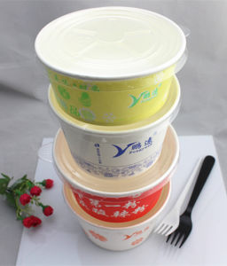 1000ml Round Food Grade Paper Food Container Made in China pictures & photos
