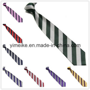 Wholesale Fashion Wide Striped Polyester Silk Tie (WH28) pictures & photos