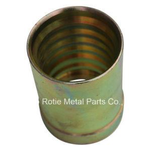 Zin Coated Hose Furrel CNC Machining Metal Part pictures & photos