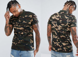 New Style Polo in Camo Fitted Cuffs pictures & photos