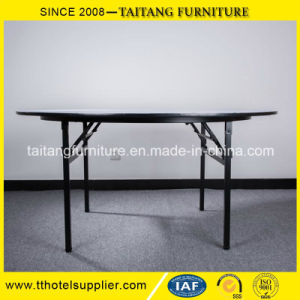 Hot Sale Hotel Banquet PVC Top Folding Table pictures & photos