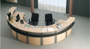Modern Customized Semi-Circle Wood Reception Desk (SZ-RT024) pictures & photos
