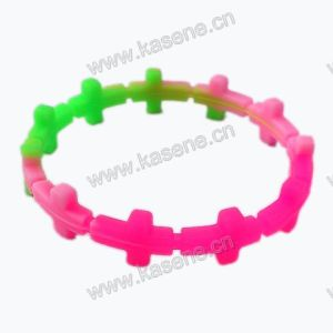 New Fashion Design Cross Shape Customized Silicone Bracelet, Cheap Silicone