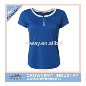 Women Dry Fit Blank Sports T- Shirt with Round Neck pictures & photos