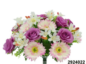 Artificial/Plastic/Silk Flower Rose/Gerbera Mixed Bush (2924022) pictures & photos