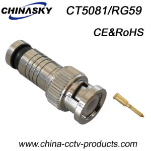 CCTV Cable Male Compression Connector BNC (CT5081/RG59) pictures & photos