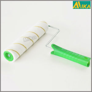 6mm Nap Yellow Strips Polyester Paint Roller with Handle pictures & photos