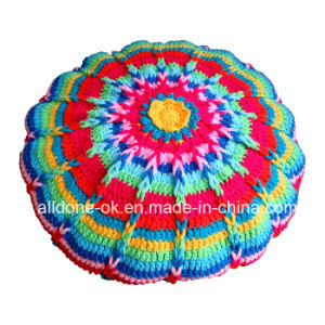New Design Fancy Decorative Hand Knitted Crochet Cushion Pillow Case pictures & photos
