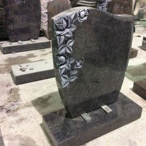 Hand Carved Rose Aurora Granite Gravestones pictures & photos