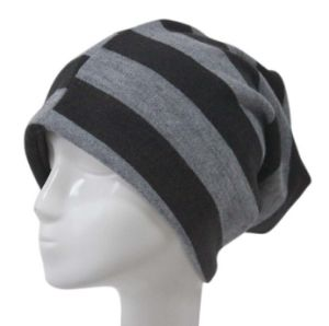 Fashion Stripe Mens Stresswear Knitted Slouch Beanie Hat pictures & photos