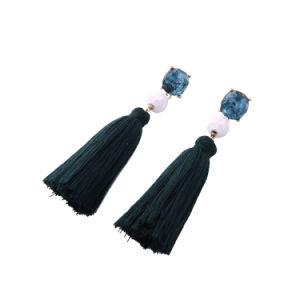 New Cheap Elegant Retro Art Crystal Studded Ccb Long Tassel Female Earring pictures & photos
