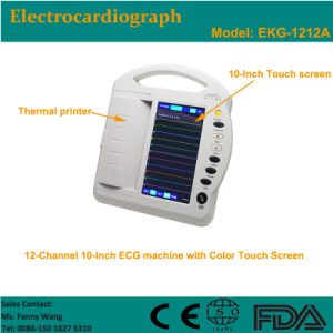CE Approved Digital 12-Channel Color Touch-Screen Electrocardiograph ECG (EKG-1212A) -Fanny pictures & photos