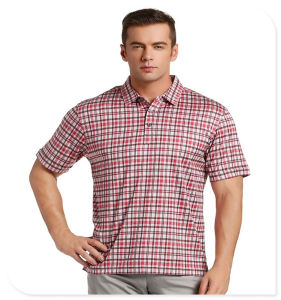 Customize Fashion Style Plaid Pattern Men Polo Shirt with Rich Colors