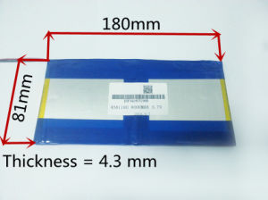 3.7V, 8000mAh 4381180 Polymer Lithium Ion Battery for Tablet PC pictures & photos