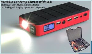 12000mahportable Car Jump Starter with LCD Display