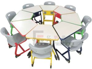 Kindergarten Furniture Kids Table Chair Metal Frame Chairs and Table for Children pictures & photos