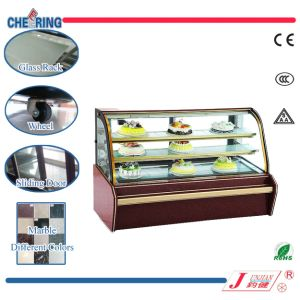 Ce Approved Marble Double-Arc Glass Showcase pictures & photos