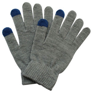 Fashion Grey Acrylic Knitted Touch Screen Magic Gloves (YKY5455) pictures & photos