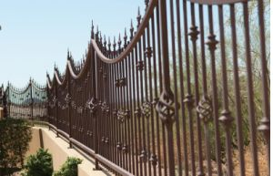 Super Quality Hand Made Low Cost Wrought Iron Fence pictures & photos