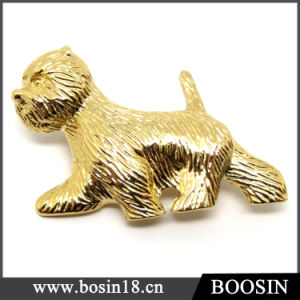 Custom Jewelry 18k Gold Dog Brooch/Animal Brooch pictures & photos