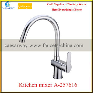 Chrome Plated Long Spout Water Kitchen Sink Tap