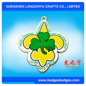 Customized Medal Shaped Metal Medal with Color Enamel pictures & photos
