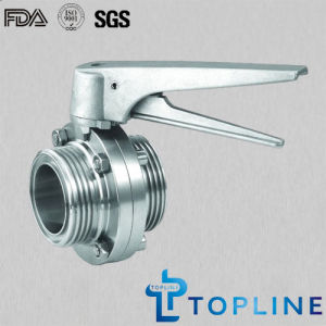 Threaded Stainless Steel Sanitary Butterfly Valve pictures & photos