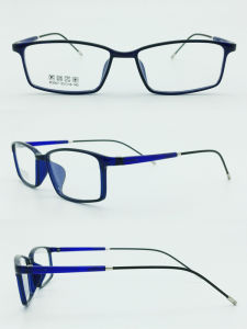 Factory Sell Light Half Plastic Steel Fashion New Design Optical Frames Glasses Eyewear pictures & photos