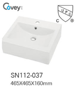 Hot Selling Vessel Sink Ceramic Basin with Cupc/Ce (A-SN112-2-037)