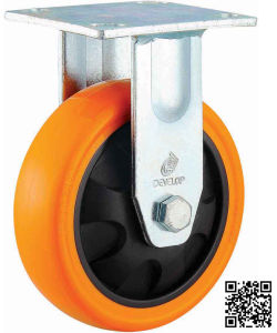 4/5/6/8 Inch Heavy Duty Orange PU Castor Wheel Industrial Rigid PU Caster pictures & photos