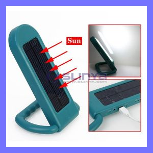 Solar Power LED Light Lamp Table Lamp Portable Camping Light pictures & photos