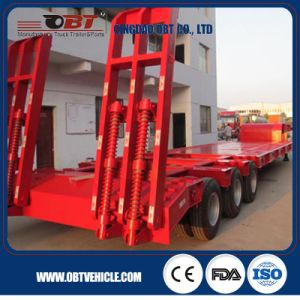 3 Axles Heavy Duty Low Bed / Lowbed Semi Trailer pictures & photos