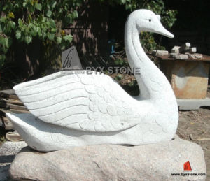 Granite Marble Stone Garden Swan Sculptures for Decoration pictures & photos