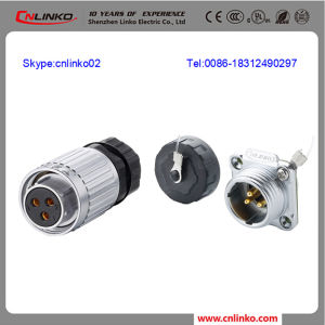 Waterproof Electrical Wire Connector 3pin/Power Plug and Socket for Computer pictures & photos