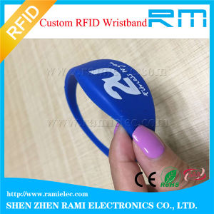 Adjustable Custom Waterproof Silicone Smart Hf 13.56MHz RFID Wristbands (bracelets)