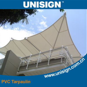 Knife Coated PVC Sunshade Carport Tarpaulin pictures & photos