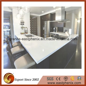 Modern White Quartz Stone Kitchen Countertop pictures & photos