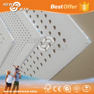 Vinyl Coated Gypsum Ceiling Board / Perforated 60X60 Gypsum False Ceiling pictures & photos