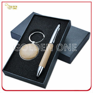 Best Wooden Key Chain and Ball Pen Gift Set pictures & photos