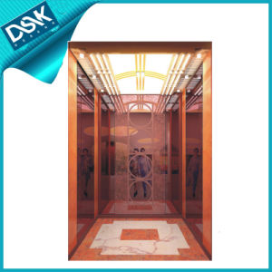 Rose Gold Mirror Etched Passenger Elevator pictures & photos