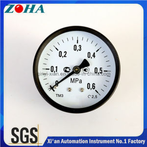 2.5 Inch Black Steel Case Normal Pressure Gauges with Back Mounting Brass 1/4 Connector pictures & photos