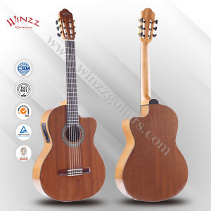 [Winzz] 39 Inch Cutaway Electric Classical Guitar (AC309CE) pictures & photos