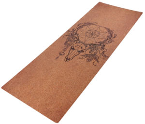7chakra Design Printed Cork Yoga Mat Skid-Less Mat pictures & photos