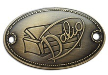 Metal Plates Brand Logos for Handbag pictures & photos