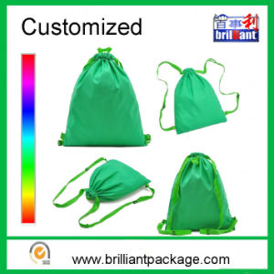 Customized Polyester Nylon Drawstring Backpack Bag Packing Backpack Bag pictures & photos